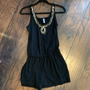 Black Beaded Romper